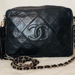 CHANEL Lambskin Quilted Camera Case Crossbody Bag